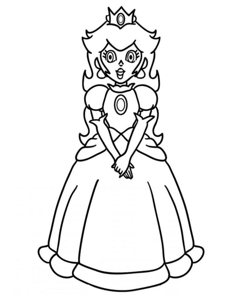 Princess Peach Coloring Pages To Print 001