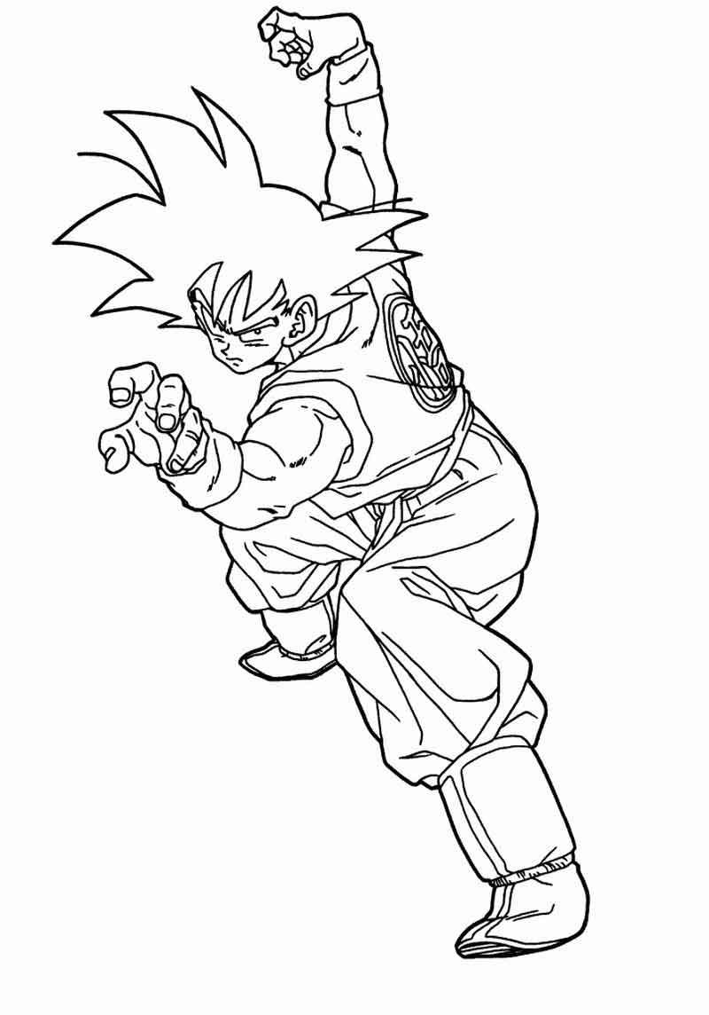 Print Dragon Ball Z Coloring Pages