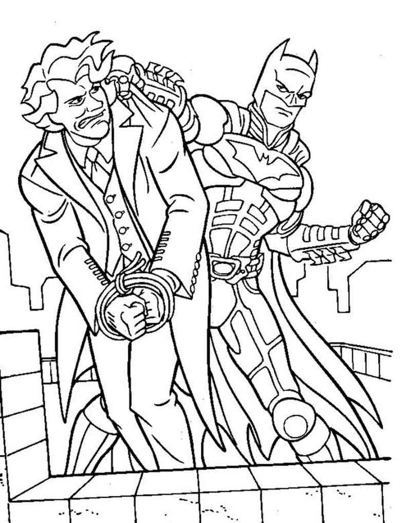 Print Free Joker Coloring Pages