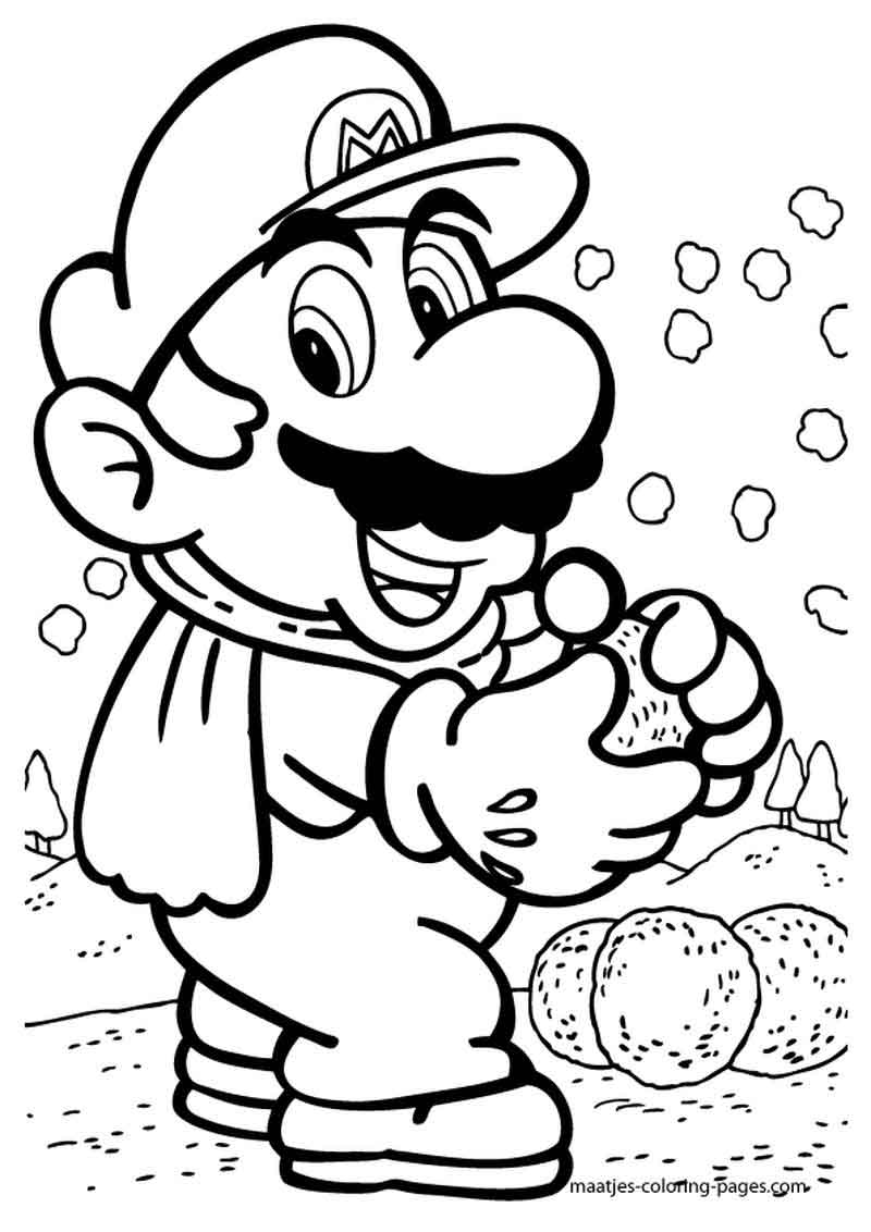 Print Mario Coloring Pages