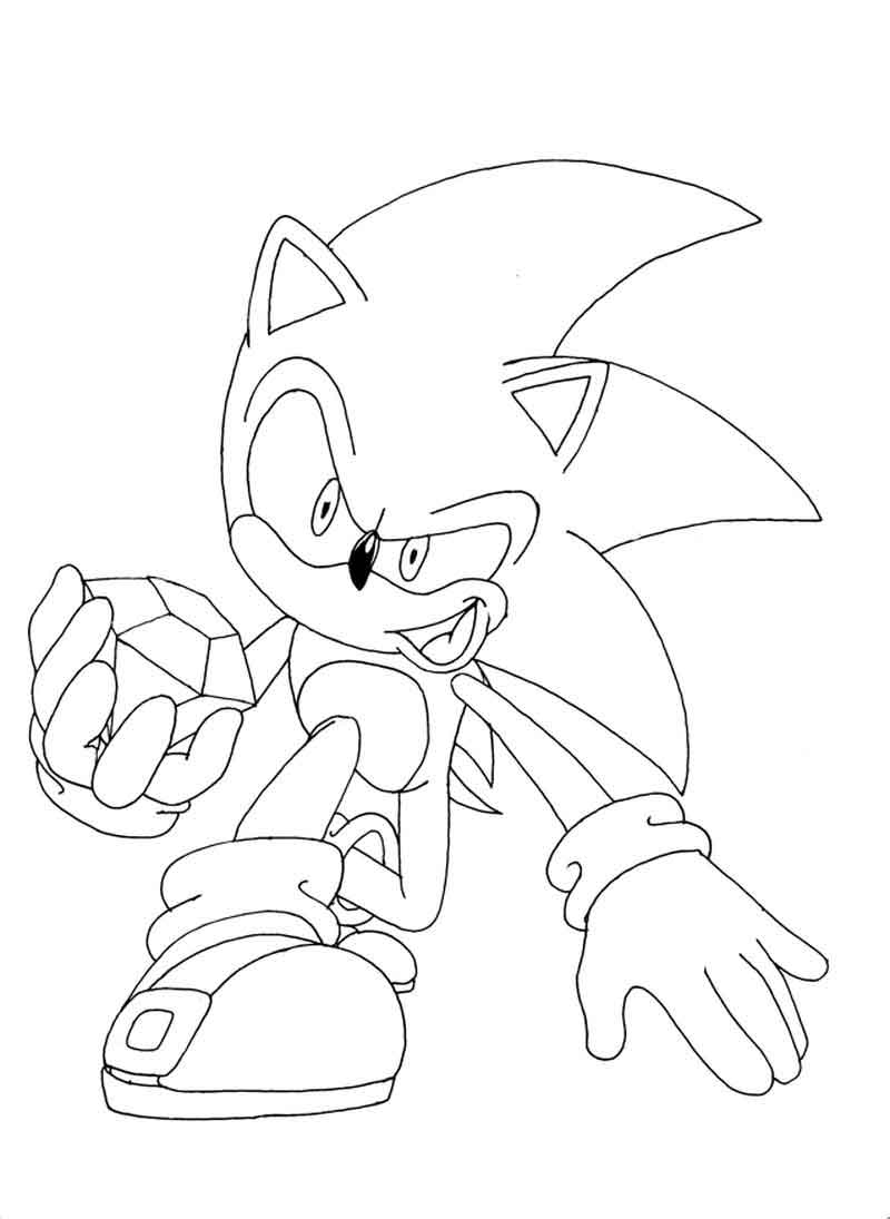 Print Sonic Coloring Pages