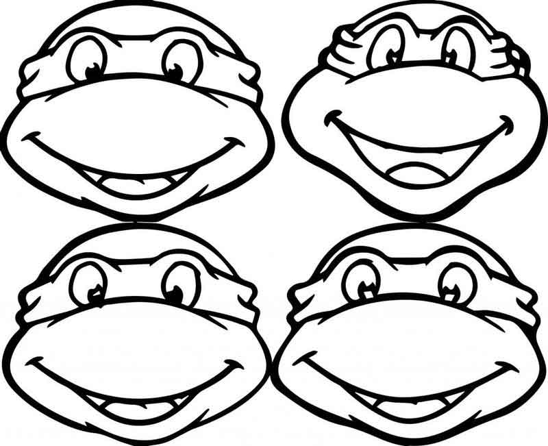 Print Teenage Mutant Ninja Turtles Coloring Pages