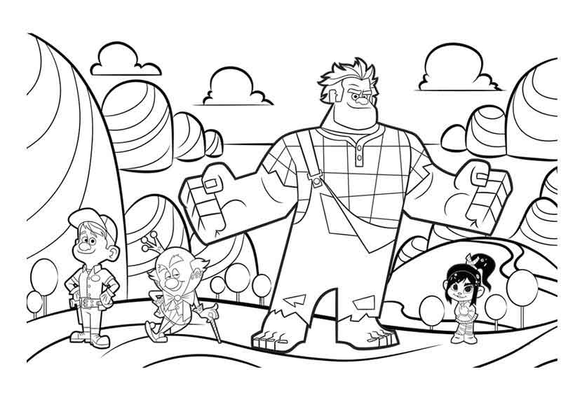 Print Wreck It Ralph Coloring Pages