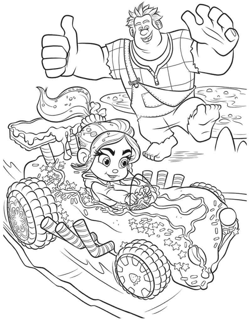 Print Wreck It Ralph Coloring Pictures