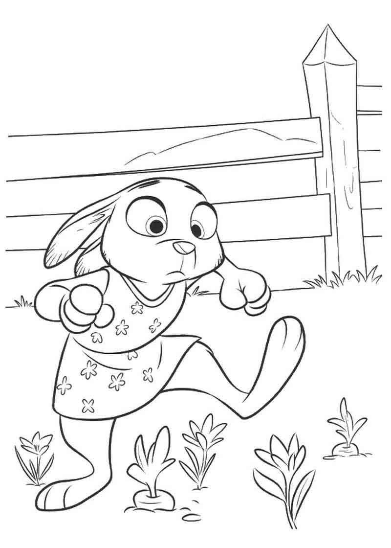 Print Zootopia Coloring Sheets