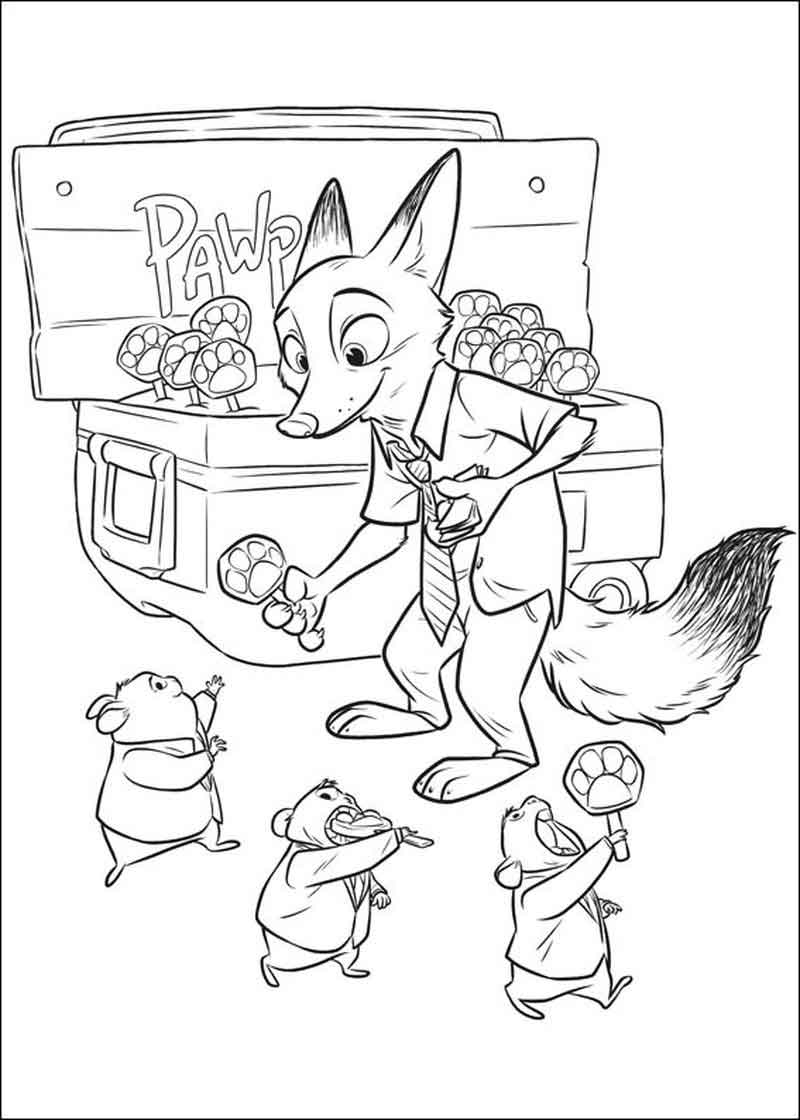 Print Zootopia Pages
