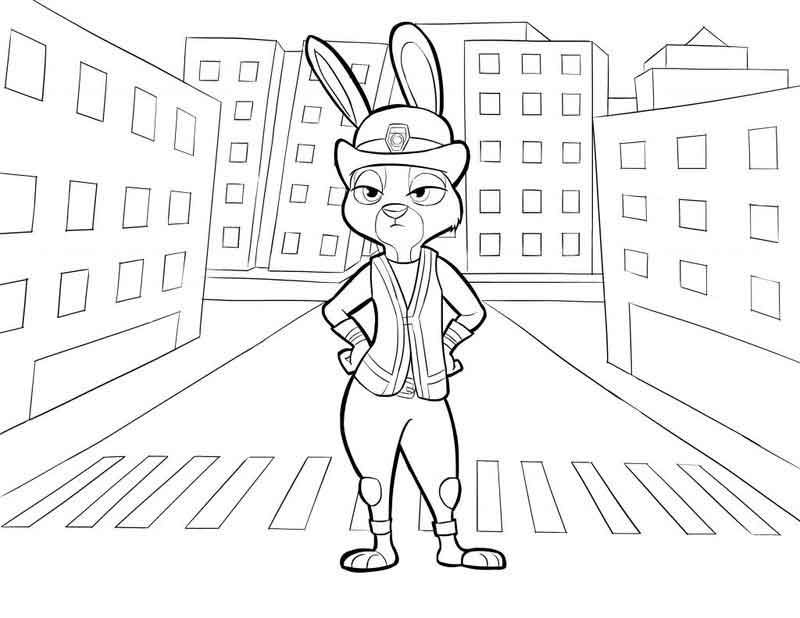 Print And Color Zootopia Pages