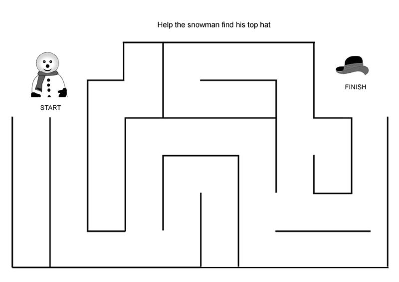Print Easy Mazes For Preschool