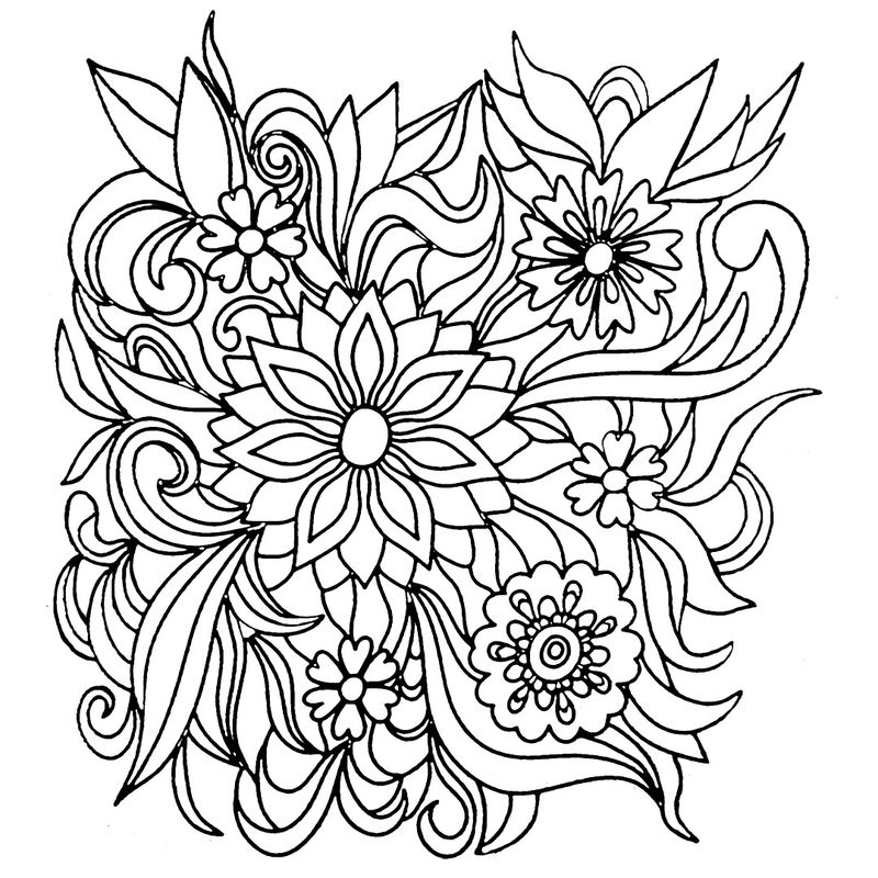 Print Flower Coloring Pages
