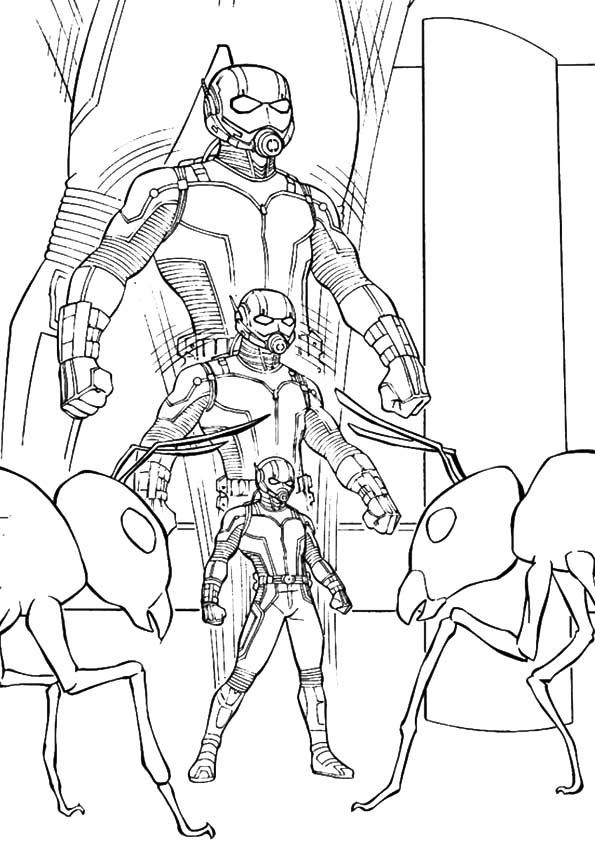 Print Free Ant Man Coloring Pages