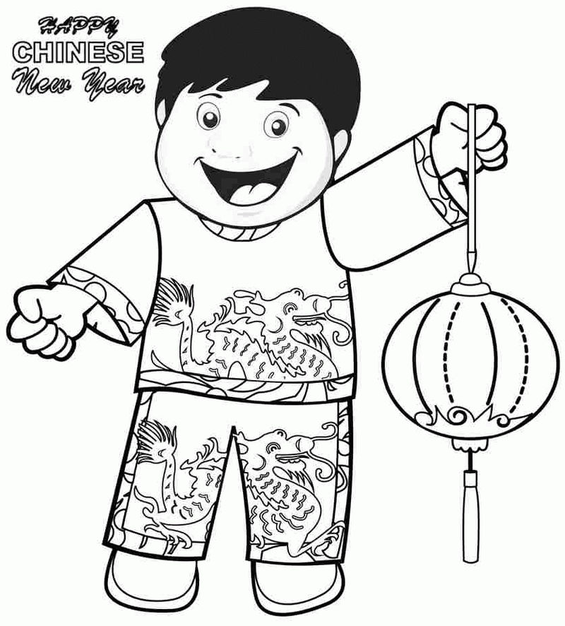 Print Happy Chinese New Year Coloring Pages 1