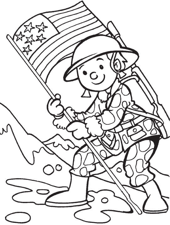 Print Memorial Day Coloring Pages