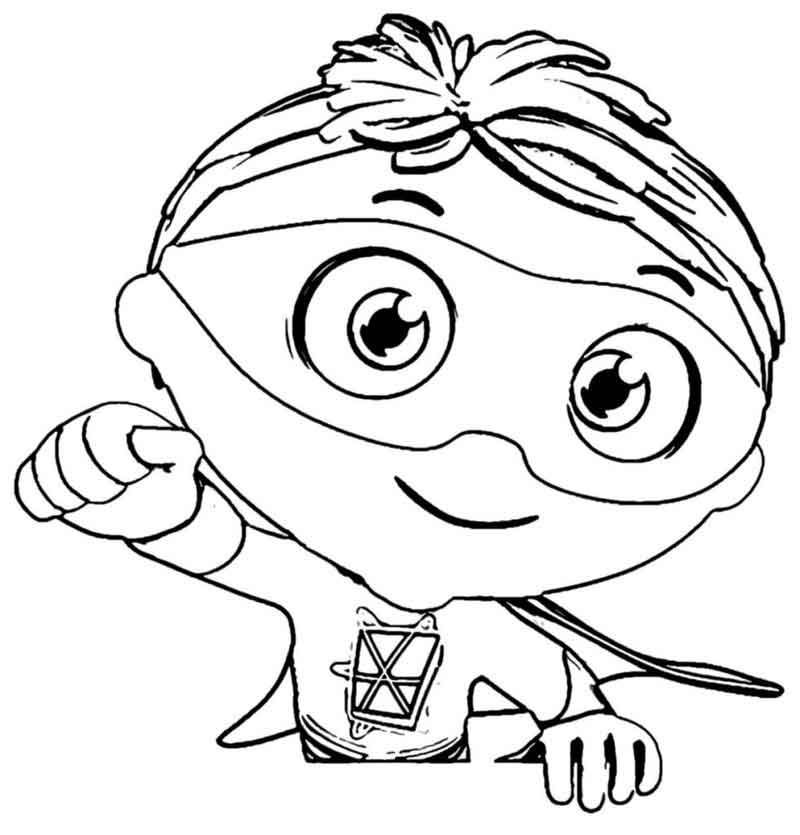 Print Super Why Coloring Pages 981x1024