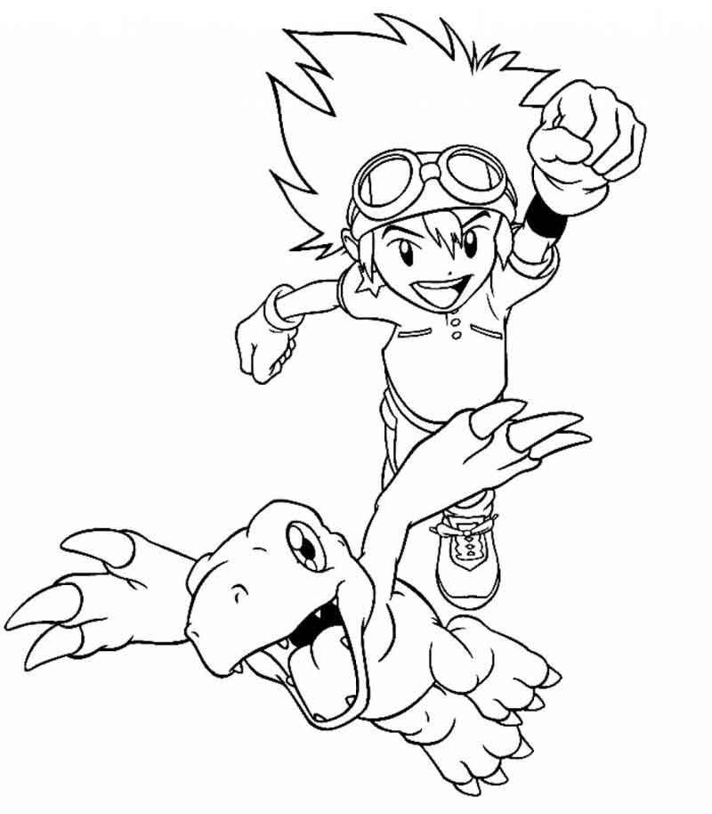 Printable Digimon Coloring Page