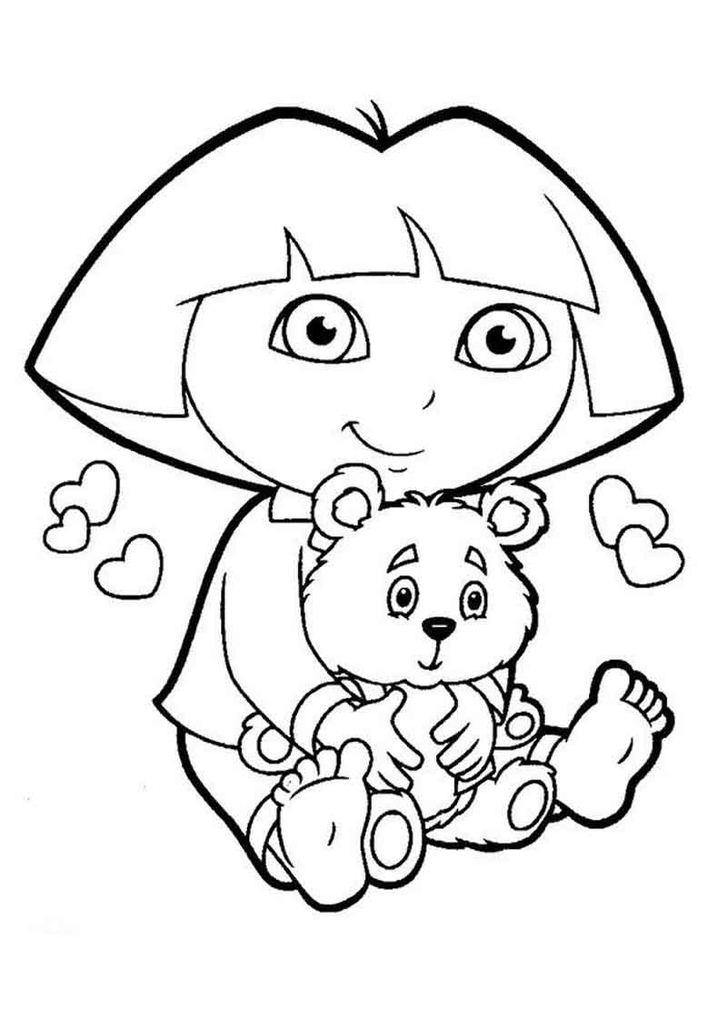 Printable Dora The Explorer Coloring Pages For Kids (1)