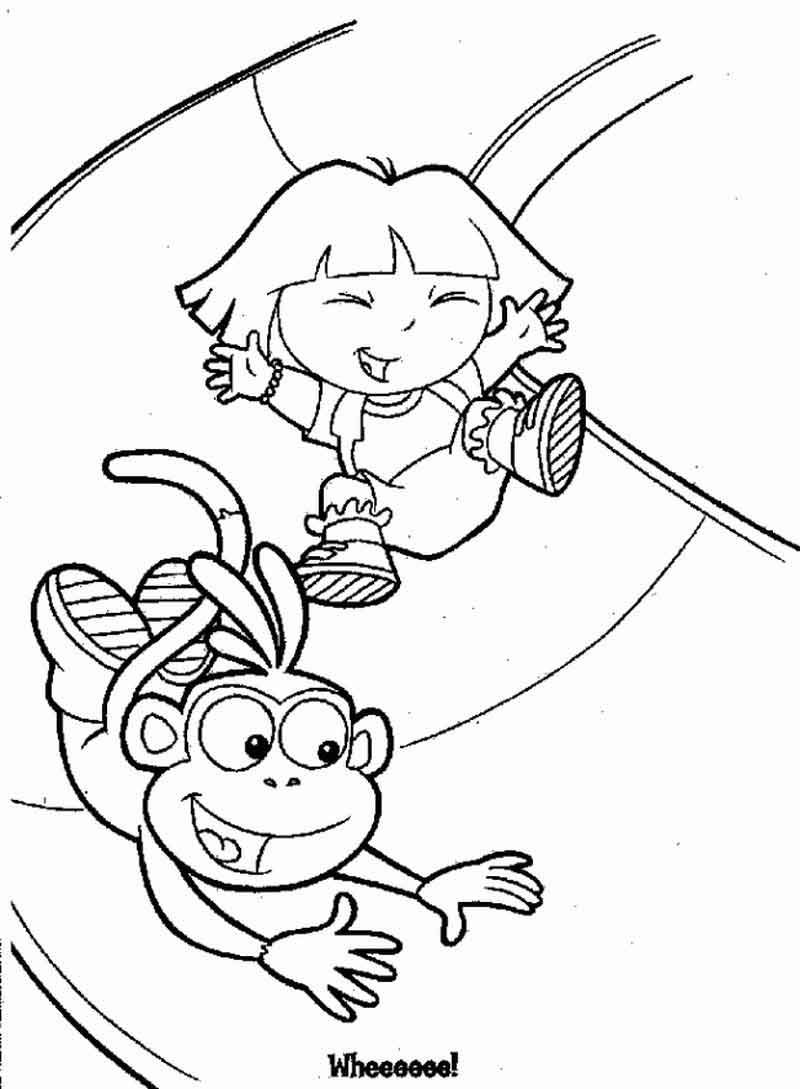 Printable Dora The Explorer Coloring Pages