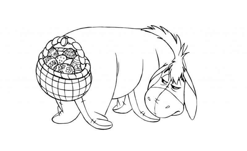 Printable Eeyore Coloring Pages