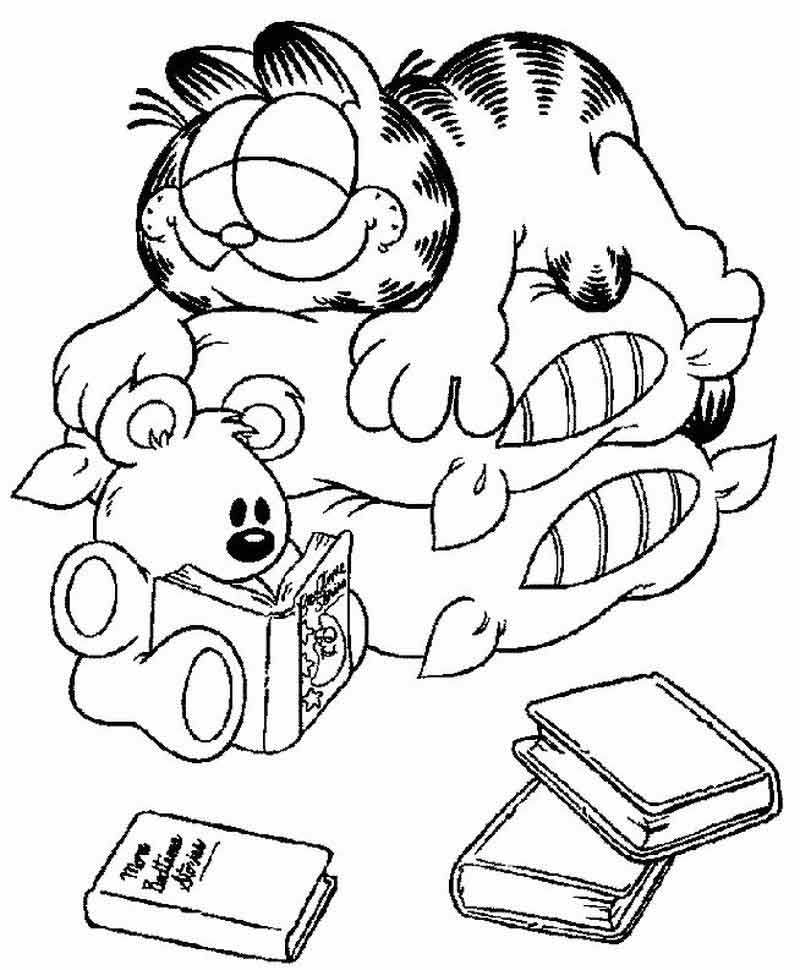 Printable Garfield Coloring Pages For Kids