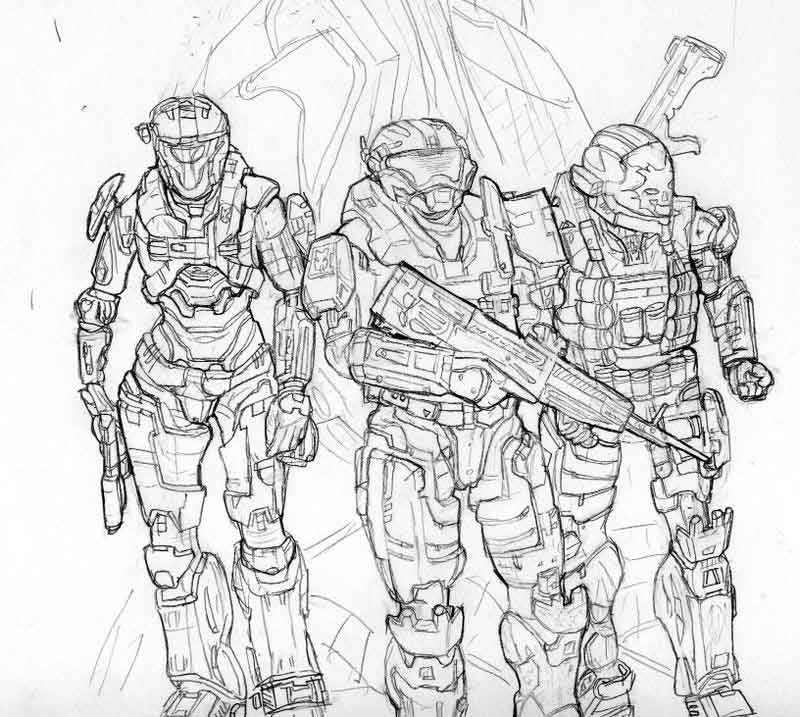 Printable Halo Coloring Pages For Kids