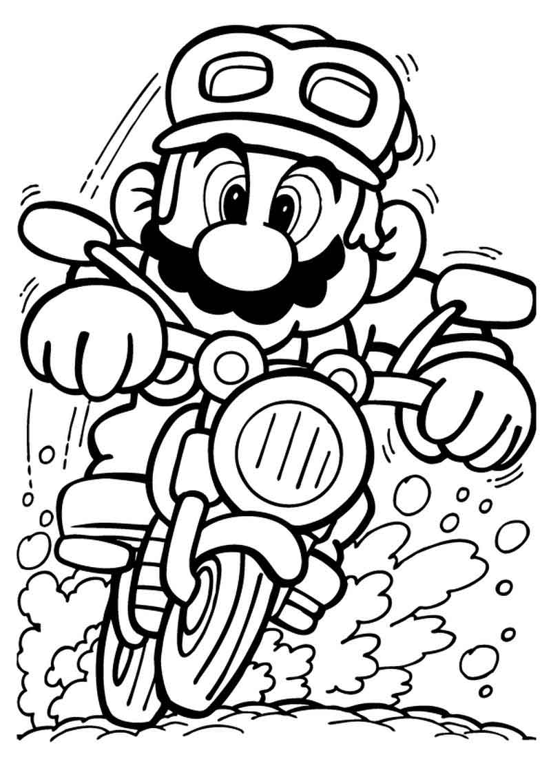 Printable Mario Kart Pages To Color