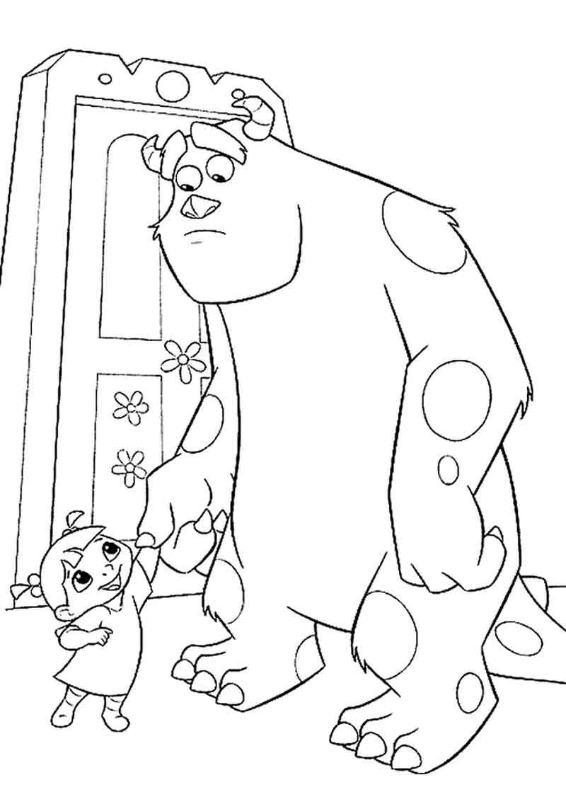 Printable Monsters Inc Coloring Pages