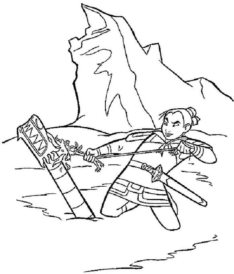 Printable Mulan Coloring Pages For Kids