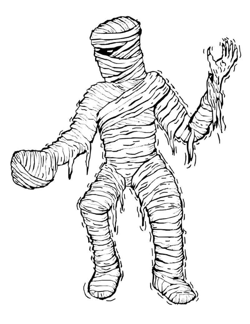 Printable Mummy Coloring Pages For Kids