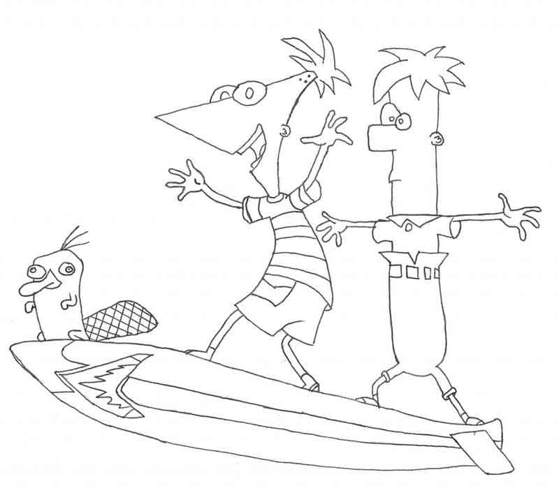 Printable Phineas And Ferb Coloring Pages