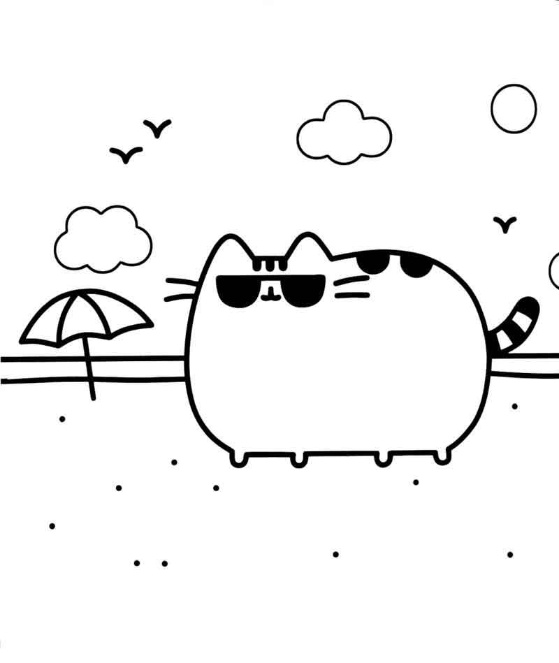 Printable Pusheen Cat Coloring Pages