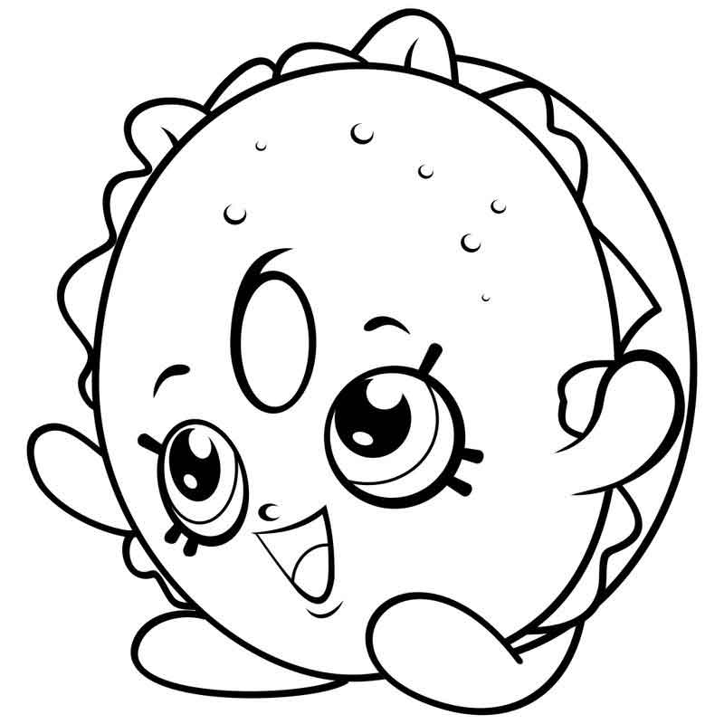 image regarding Free Printable Shopkins Coloring Pages titled Printable Shopkins Coloring Website page Cost-free COLORING Web pages
