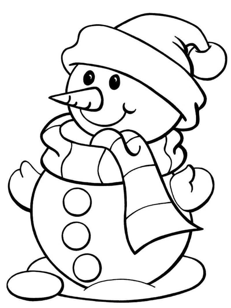 Printable Snowman Coloring Pages