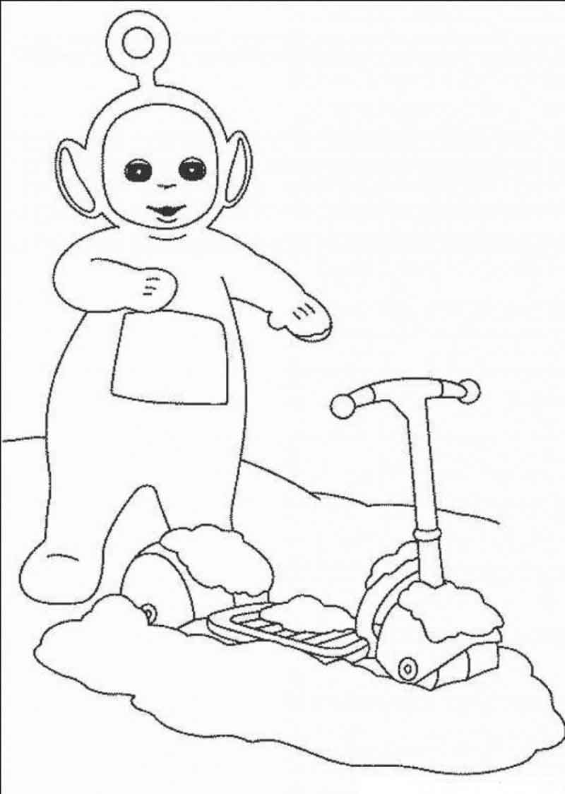 Printable Teletubbies Coloring Pages