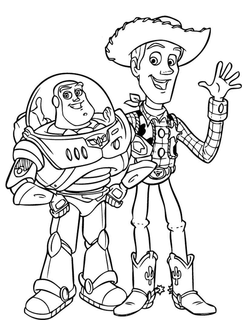 Printable Toy Story Coloring Pages