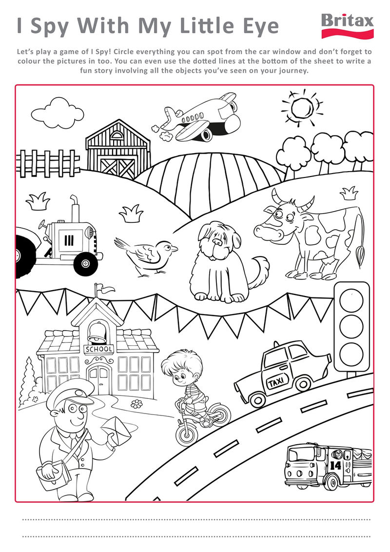 Printable Activity Sheets Spy