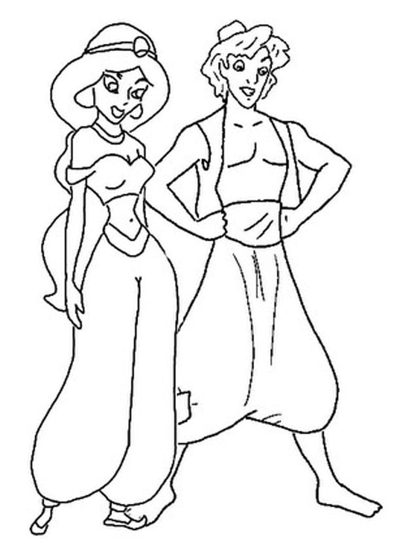 Printable Aladdin Coloring Pages | FREE COLORING PAGES