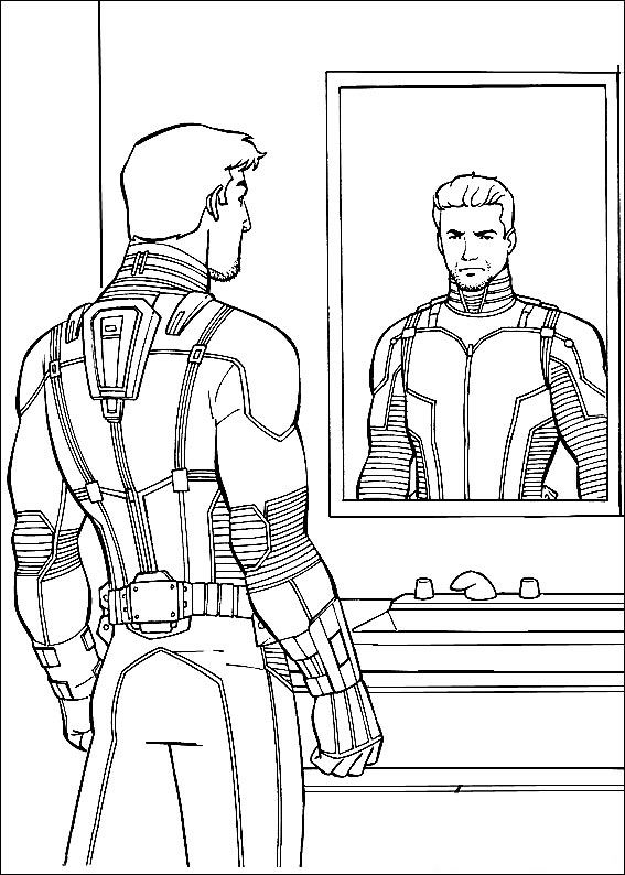 Printable Ant Man Coloring Pages