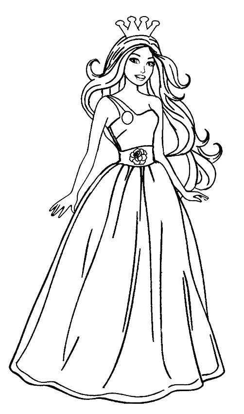 Printable Barbie Princess Coloring Pages