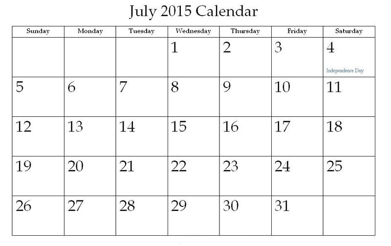 Printable Calendar Pages 2015 July 001