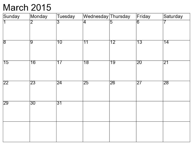 Printable Calendar Pages 2015 March1 001
