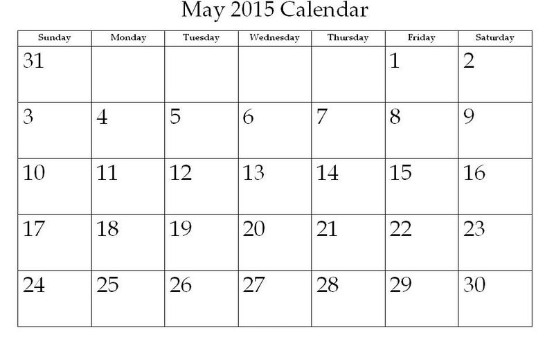 Printable Calendar Pages 2015 May 001