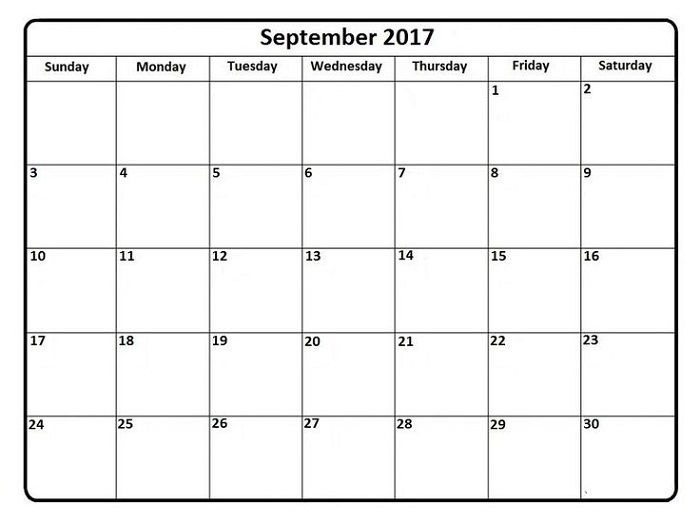 Printable Calendar Pages Template