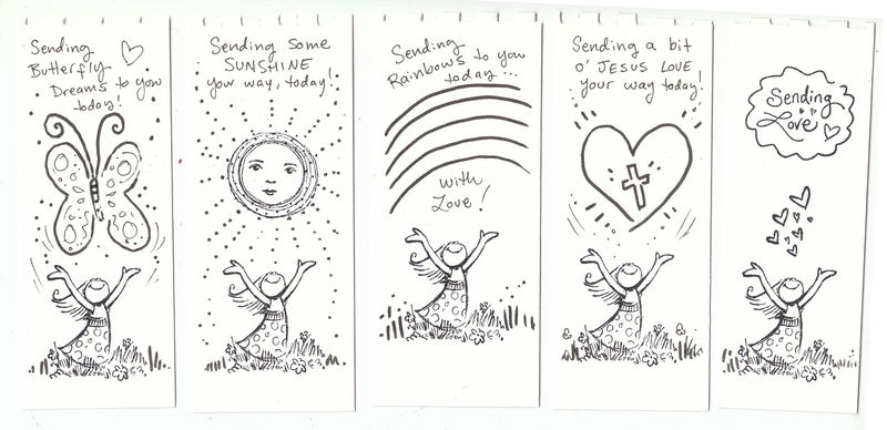 Printable Coloring Reading Bookmarks Page