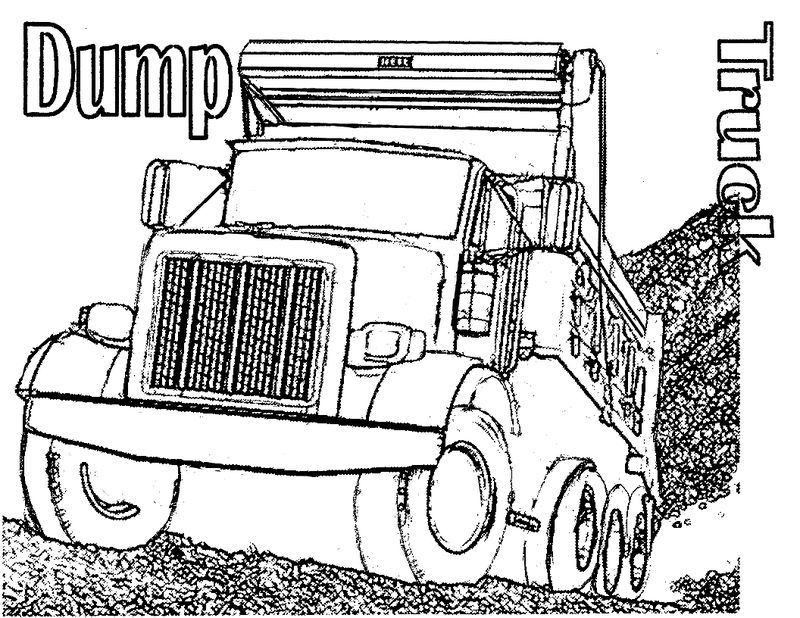 Printable Dump Truck Coloring Pages 001