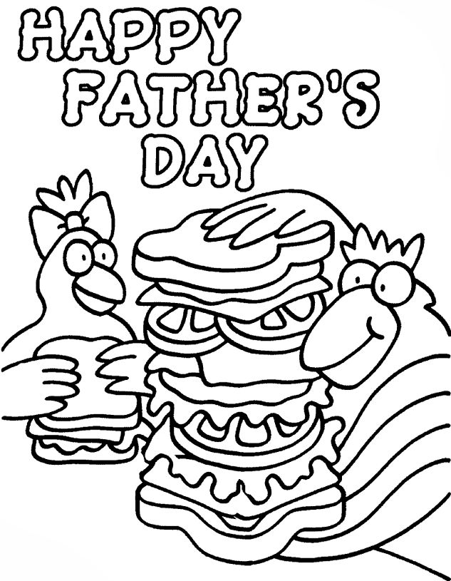 Printable Fathers Day Coloring Pages 001