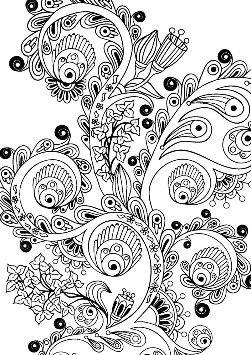 Printable Flower Design For Adult Coloring