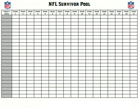 Printable Football Squares Nfl 001