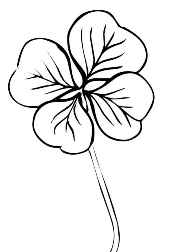 photograph about Printable Four Leaf Clover known as Printable 4 Leaf Clover Coloring Internet pages Cost-free COLORING Internet pages