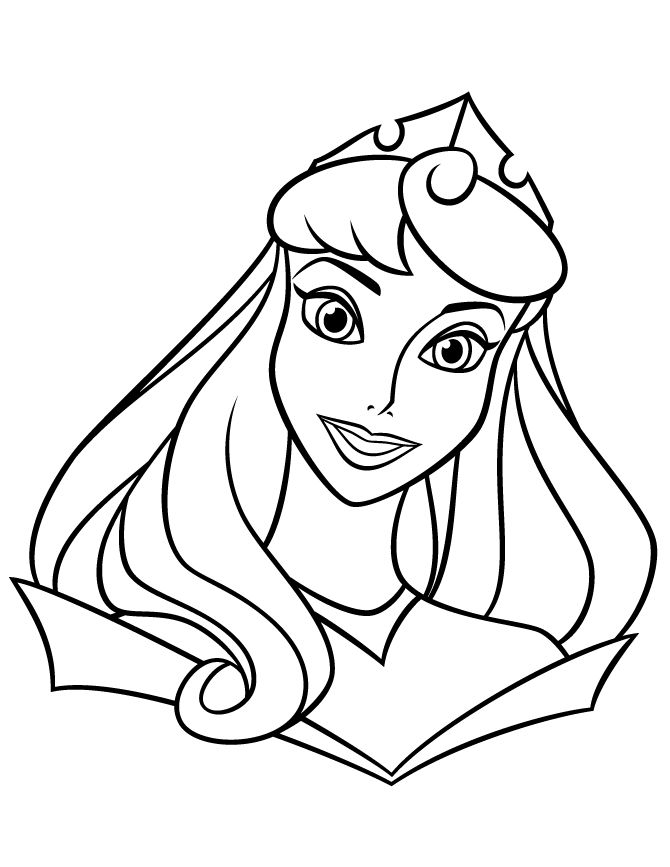 Printable Free Princess Coloring Pages 001