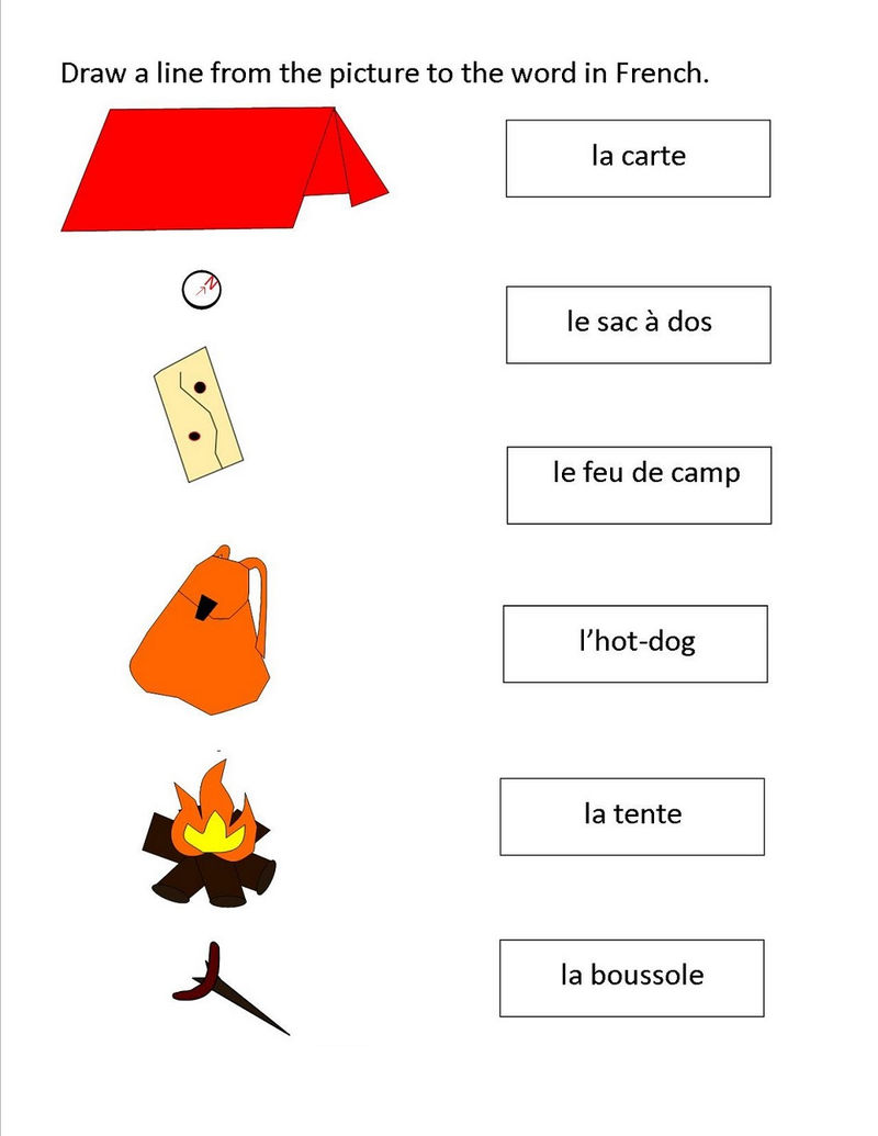 Printable French Worksheets Practice