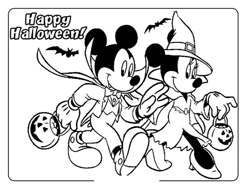 Printable Halloween Coloring Pages Minnie Mouse 001
